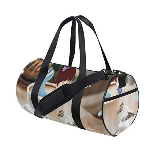 HARXISE Fantasie-Kaffeetasse-kleines Mädchen-Meerjungfrau-Schwanz im Porzellan-modernen Haus-Schreibtisch kreativer Art Design,Reisegepäcktasche Sport Leichte Segeltuch Fitness Handtasche Abnehmbar
