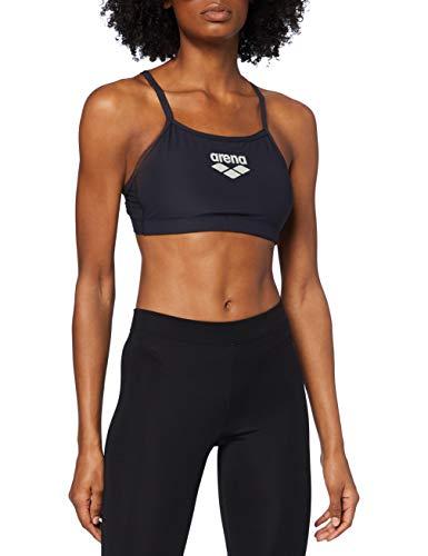 ARENA Damen Sport BH Top Soft Support, Black, M