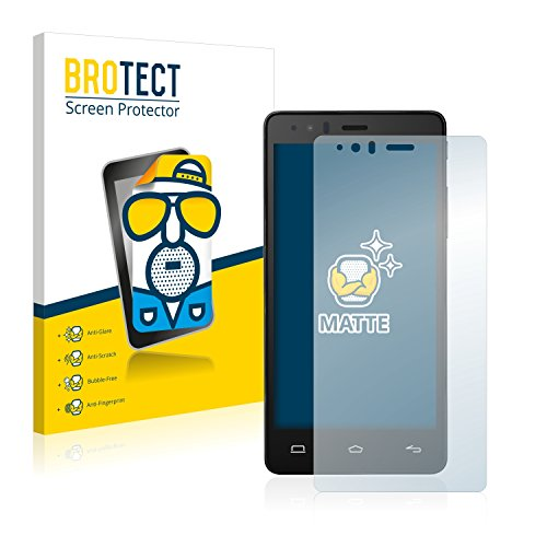 BROTECT 2X Entspiegelungs-Schutzfolie kompatibel mit BQ Aquaris E5 Bildschirmschutz-Folie Matt, Anti-Reflex, Anti-Fingerprint