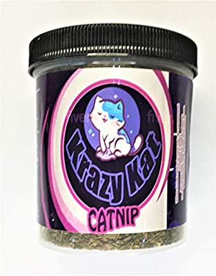 Krazy Kat Catnip 2 Oz net wt 100% Pure Unadulterated Catnip (Nepeta cataria) Cut Leaf, Buds, Stems and Seeds. Principal Constituent is Nepetalactone, which is What Makes Cats Respond to Catnip.