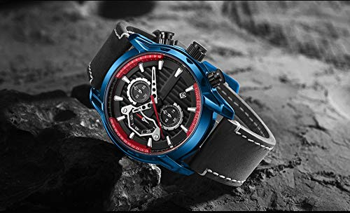 Voigoo Mode Herren-Uhren wasserdicht leuchtende Sport-Armbanduhr Chronograph Männer beiläufige Quarz-Armbanduhr Reloj Hombre