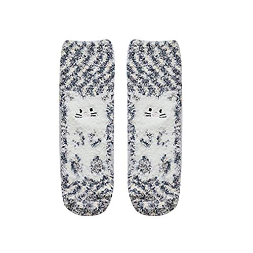 NHMDE Calcetín De Navidad para Mujer,Invierno Moda Caliente Calcetines De Las Mujeres Rayas Calcetines 3D...