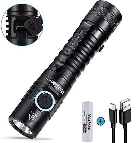 Bester der welt Wurkkos FC11 Taktische LED-Taschenlampe 1300 Lumen, hoher Farbwiedergabeindex, Batterieladefunktion…