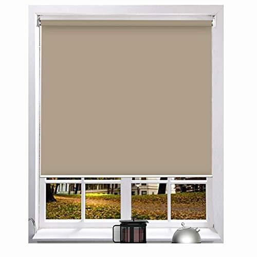 LIQICAI Estor Enrollable, UV-skydd Värmeisolerad Lyftgardin Villa Hotel Klubbhus, 2 Installationsmetoder, Anpassad Storlek (Color : Brown-B, Size : 105cmX150cm)