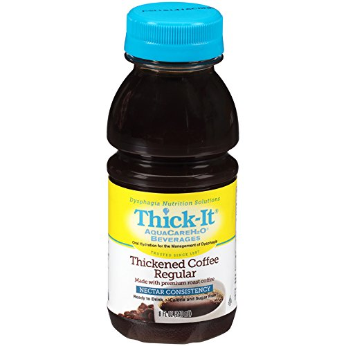 Thick-It Clear Advantage Thickened Regular Coffee - Mildly Thick/Nectar, 8 oz Bottle (Pack of 24)