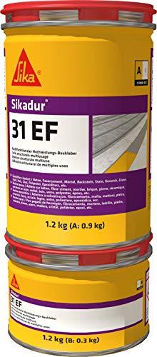 Sikadur-31 EF, Resina epoxi de dos componentes multiuso, Adhesivo estructural y mortero de reparación, relleno de juntas y sellado de fisuras, Gris, 1.2 kg