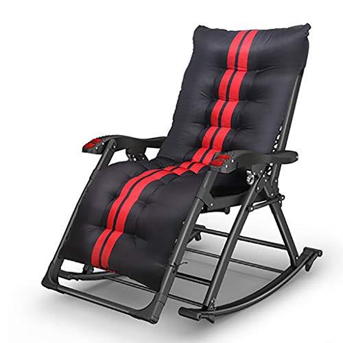 Duan hai rong DHR - Silla plegable reclinable para el almuerzo, descanso para el almuerzo, cama Siesta multifunción mecedora para ancianos balcón, ocio, tumbona