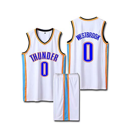 SHPP Uniforme De Baloncesto,Chris Paul 3# Russell Westbrook 0# Paul George 13# Carmelo Anthony 7# Kevin Durant 35#- Chaleco Camisa + Pantalones Cortos De Verano Tamaño:4xs-5xl-Blanco 3 5XL
