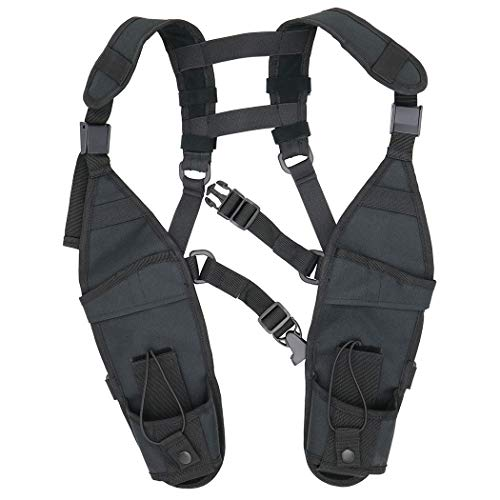 GoodQbuy Universal Double Radio Shoulder Harness Chest Rig...