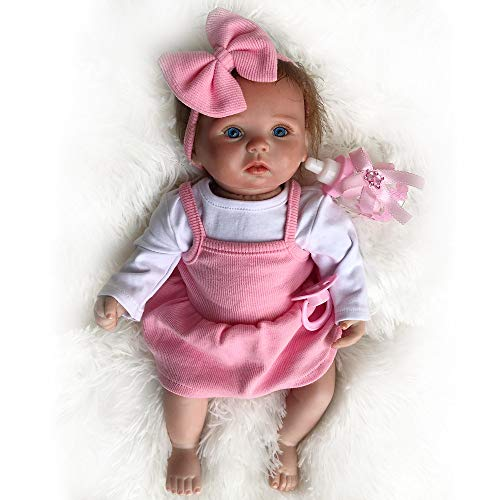YIHANGG 15 Pulgadas Reborn Baby Doll Vinyl Silicone 38cm Newborn Girl Doll Realistic Toddler Doll Toy Kids Partner Gift
