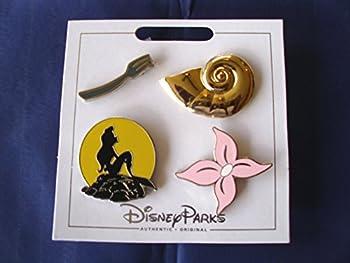 Disney Parks Ariel Little Mermaid Icons 4 Pin Set