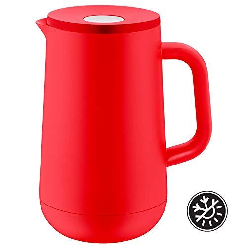 WMF Isolierkanne Thermoskanne Impulse, 1,0 l, für Tee oder Kaffee Druckverschluss hält Getränke 24h kalt und warm, rot