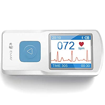 EMAY Portable ECG Monitor (for iPhone & Android, Mac & Windows) | Wireless EKG Monitoring Devices with Heart Rate & Rhythm Tracking