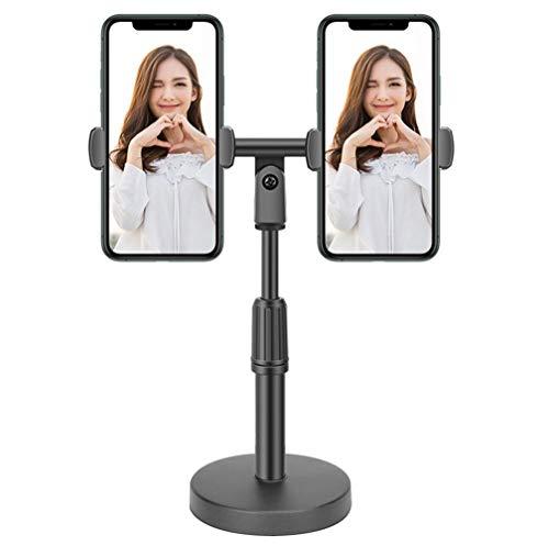 Svnaokr Soporte para teléfono móvil, soporte de mesa ajustable, multiángulo, soporte para iPhone 12 11 Pro Xs Max XS 8 7 Plus, Samsung S20 S10, otros smartphones (2 teléfonos móviles)