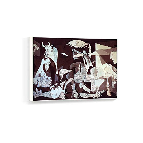 NWT Framed Canvas Wall Art for Living Room, Bedroom Pablo Picasso Guernica Canvas Prints for Home Decoration Ready to Hanging - 24x36 inches