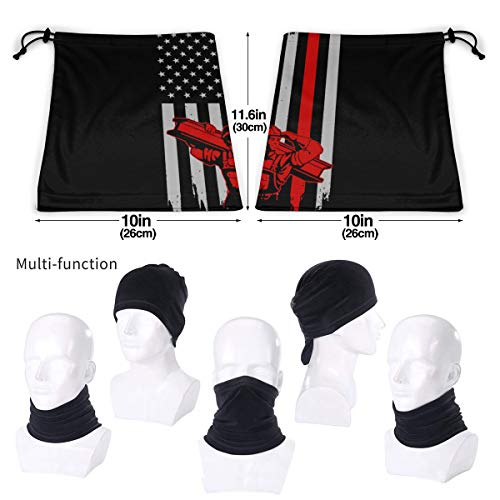 Ironworker American Flag Unisex Fleece Neck Warmer, Neck Gaiter Cover Face Mask Black