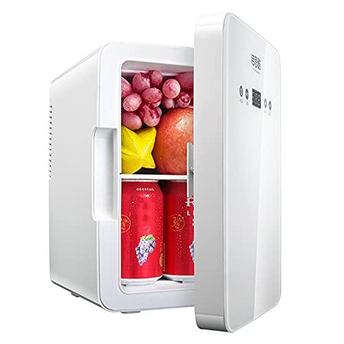 Mini Refrigerador del Coche 6L, Refrigerador Portátil para Bebidas, Pequeño Frigorífico para Enfriar y Calentar Habitaciones, Compatible con AC/DC, Para Alimentos/bebidas/productos para Cuidado Piel