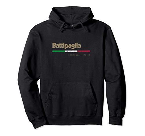 Battipaglia Città Italiana Retrò Bandiera Italia Felpa con Cappuccio