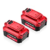 Powerextra 2 Pack 20V 4000mAh Replacement Battery for Craftsman V20 Lithium Ion Battery CMCB202 CMCB204, Compatible Craftsman V20 Cordless Drill Combo Kit CMCK200C2 CMCD700C1 (Only for V20 Series)