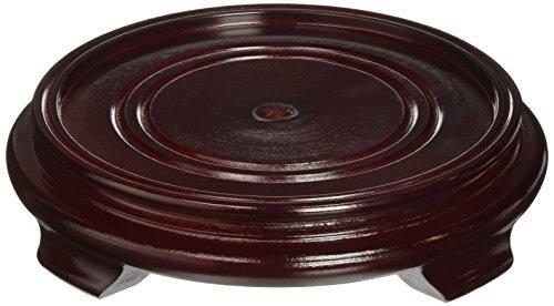Oriental Furniture Rosewood Pedestal Stand - (Size 6 in. Base Diameter)