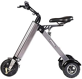 TopMate ES31 Electric Scooter Mini Foldable Tricycle Weight 14KG with 3 Gears Speed Limit 6-12-20KM/H and 3 Shock Absorbers | Especially Suitable for People Over 50 Age On A Trip (Gray)