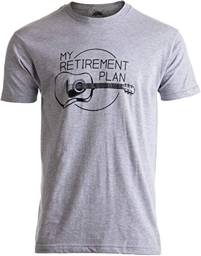 My Retirement Plan (Guitar) | Funny Music Musician Humor Men Women Joke T-Shirt-(Adult,XL)