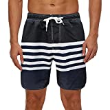 Pantalones Cortos Hombre Deporte SHOBDW 3D Impresión Verano Pantalones Cortos De Playa 2021 Nuevo Casual Pantalones Hombre Chandal Cordón Elástico Cortos Aptitud Tallas Grandes (Black, XXL)