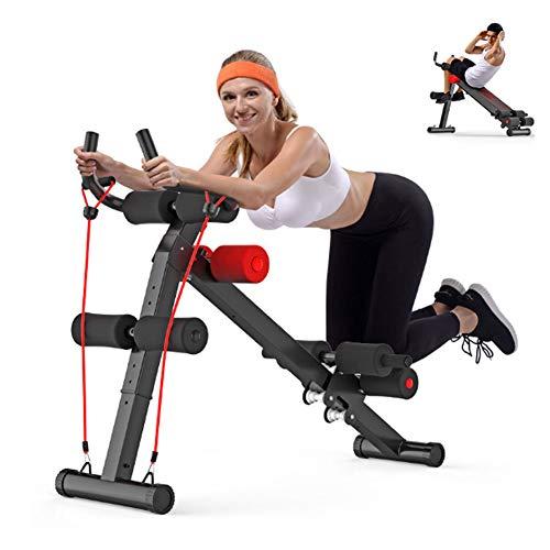 WGXY Bauchtrainingsmaschine Vier in einem faltbaren Bauchtrainer, mit Antirutsch-Rollern, Sieben Höhenverstellung, Sportgeräten, Ideal Cardio Trainer