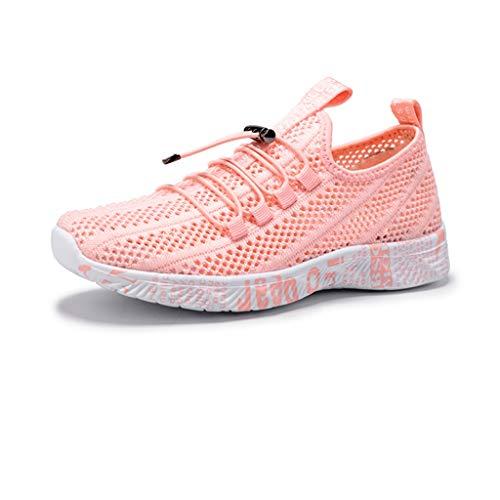 ZLDGYG Zapatillas de Deporte para Correr Zapatos Deportivos de Malla Transpirable Plana Suave Hombre Zapatos de Moda Entrenamiento de Moda Calzado de Jogging cómodo Caminando (Size : 36)