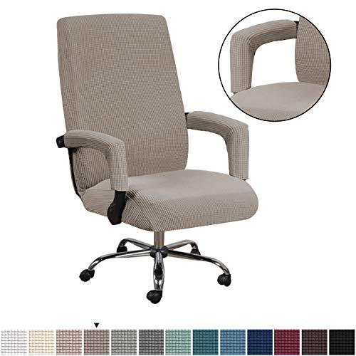 H.VERSAILTEX Durable Soft High Stretch Office Chair Cover Furniture Protector with Office Chair Arm Covers Stretchable Removable Computer Office...