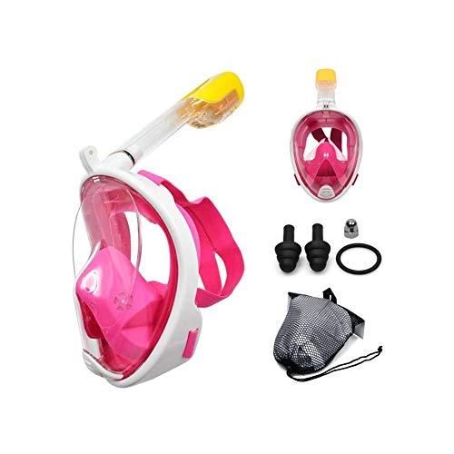 LYYAN Suministros de Buceo Máscara de Buceo Integral Adultos y Niños Máscara Snorkel Cara Completa 180° Vista Panorámica Easybreath Anti-Niebla Anti-Fugas Gafas de Bucear Gafas de Natación Deportes