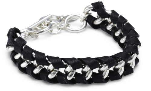 Pilgrim Jewelry Damen-Armband aus der Serie Winter Bracelets versilbert schwarz 18.0 cm 251246162