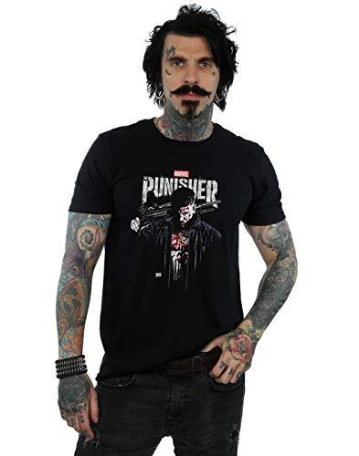 Marvel Herren The Punisher TV Series Frank Castle T-Shirt Schwarz Large