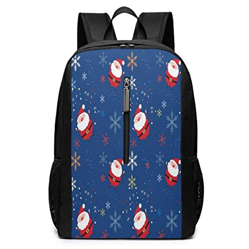 Santa Claus Theme Backpacks 17 inch School Bag College Bags Laptop Backpack Large Capacity Backpack