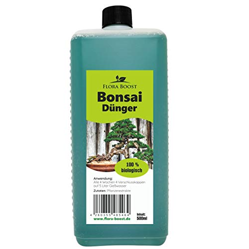 Konfitee Bonsai Dünger - Dünger für Bonsai - Flora Boost für gesunde Bonsai Bäume (500 ml)