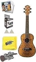 Oscar Schmidt OU7 Spalted Mango Concert size Ukulele w/Strings and More Bundle
