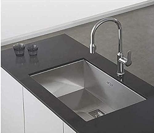 ASTER PM SB SQ 2418 Kitchen Sink Silver Matt Finish