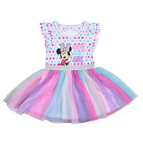 Disney Girl's Minnie Mouse Polka Dot Birthday Girl Dress and Panty Set, Size 3T