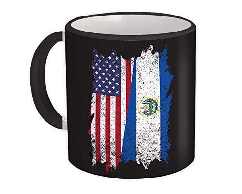 Estados Unidos El Salvador : Taza de Regalo : Americano salvadoreño