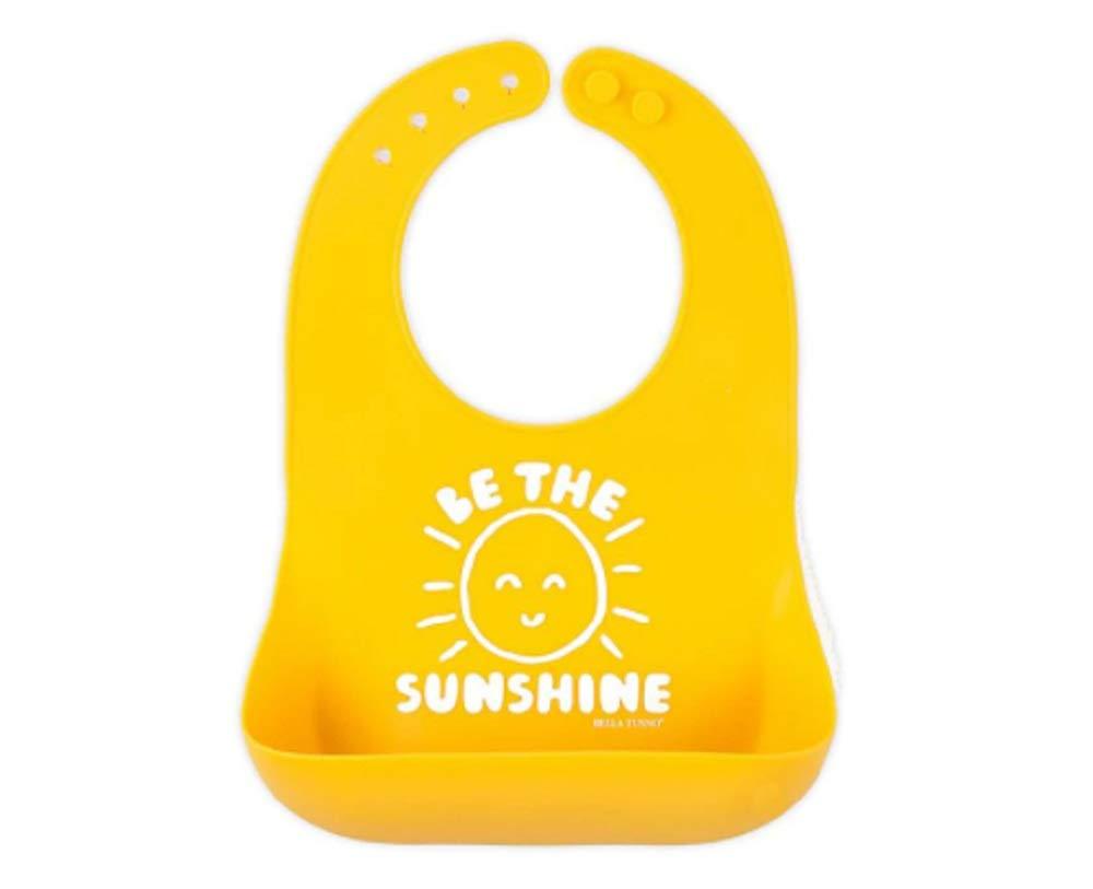 BELLA TUNNO Bella Tunno Silicone Baby Bib Comfortable & Durable Wonder Bib Be The Sunshine Bib, Yellow