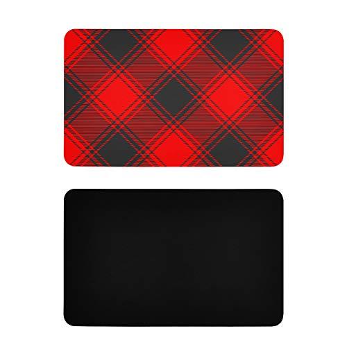 Imanes cuadrados para nevera Buffalo Plaid Tela Textura Sticker Imanes Personalizados Pvc Refrigerador Imanes Divertidos Accesorios de Cocina 4x2.5 pulgadas