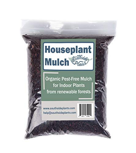 Organic Houseplant Mulch - Very Fine Pine bark Wood Chips for Indoor and Patio Plant Soil Covering - 4 quarts