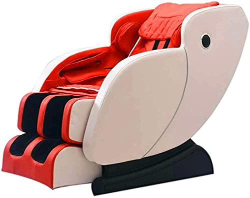 PIAOLIGN Sillón de Masaje Masaje Silla de Masaje Inteligente, relajación Profesional 4D, Sistema de calefacción, sofá de Masaje de amasamiento, Oficina automática para Ancianos (Color : Red)