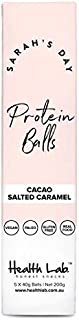 Sarahs Day Protein Balls by Health Lab   Chocolate Salted Caramel   100% Natural & Vegan   Dairy Free & Gluten Free Snacks   5 Count