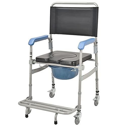 Folding chair Asiento de Inodoro, Silla de Ducha, Silla Plegable para Personas Mayores, Apto para Embarazadas, Personas con Movilidad Reducida, con reposabrazos y Tabla para Sentarse