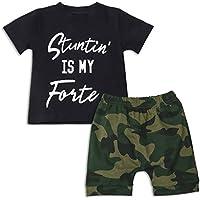 U.nikaka Toddler Baby Boy Button Down Shirt & Casual Shorts
