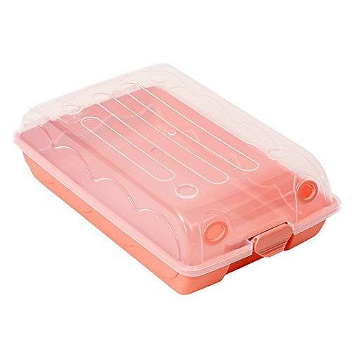 weichuang Caja de zapatos de plástico simple y grueso transparente para almacenamiento de zapatos, cajón, caja de zapatos (color: rosa, tamaño: L)