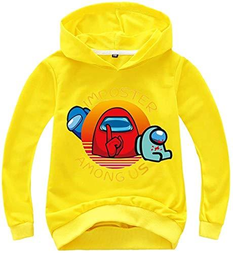 XXHDEE Sudaderas con capucha para niños de color sólido con estampado de Game Among Us para adolescentes (color: 11, tamaño: 130)