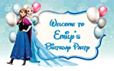 Frozen Birthday Banner Personalized Party Backdrop Decoration ikban53