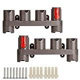 Furado Soporte de accesorios para aspiradora Dyson,Dyson V6 V7 V8 V10 v11 organizador de montaje en pared, Soporte para Accesorios Dyson (10 enchufes de Almacenamiento,2 Piezas) Accesorios para Dyson